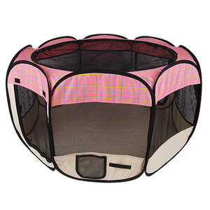 Pet Gear pink Octagonal Pet Fabric Pen (S)